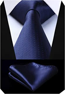 BIYINI Cravatta da uomo Fazzoletto Cravatte da matrimonio a pois Elegante classica cravatta set