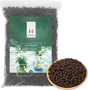 Malifea 4LBS Leca Expanded Clay Pebbles Hydroponics Supplies for Indoor Garden Plants