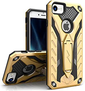 ZIZO Static Series Compatible with iPhone 8 Case Military Grade Drop Tested with Built in Kickstand iPhone 7 iPhone 6s Case Gold Black