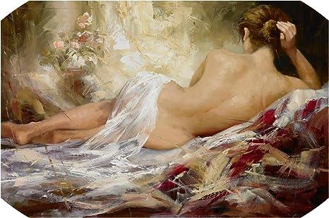 Amazon.com: Impresión abstracta retrato moderno de mujer desnuda pintura al  óleo sobre lienzo arte sexy mujer mujer cuerpo pared pared cuadro para sala  de estar Cuadros : Hogar y Cocina