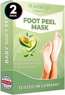 Foot Peel Mask - Avocado Feet Peeling Mask 2 Pack - Dermatologically Tested, Cracked Heel Repair, Dead Skin Remover for Ba...