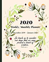 2020 Planner - Weekly and Monthly | December 2019 - January 2021: Inspirational Christian Calendar, Agenda and Organizer w...