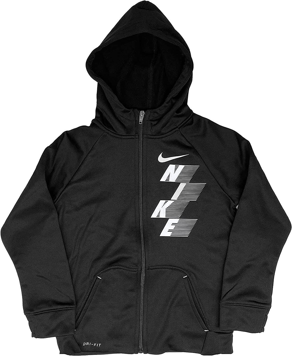 Nike Little Boys Therma FIT Graphic Full Zip Training Hoodie