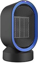 NEXGADGET Calefactor Cerámico Portátil, Calendador Eléctrico Oscilación Automática de Aire Caliente y Natural Protección contra Sobrecalentamiento y Volcado para el hogar y la Oficina 600W