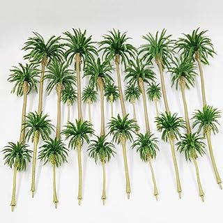 CWBPING 15pcs Miniature Model Coconut Tree Scenery Layout Model Train Railway Forest Scale