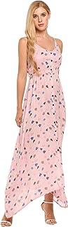 Women Boho Maxi Dress V Neck Beachwear Cami Bikini Cover Ups