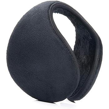 Calentadores de orejas unisex cl/ásicos para actividades y deportes al aire libre y cuidado personal negro negro Calentadores de orejas para colocar por atr/ás de la cabeza