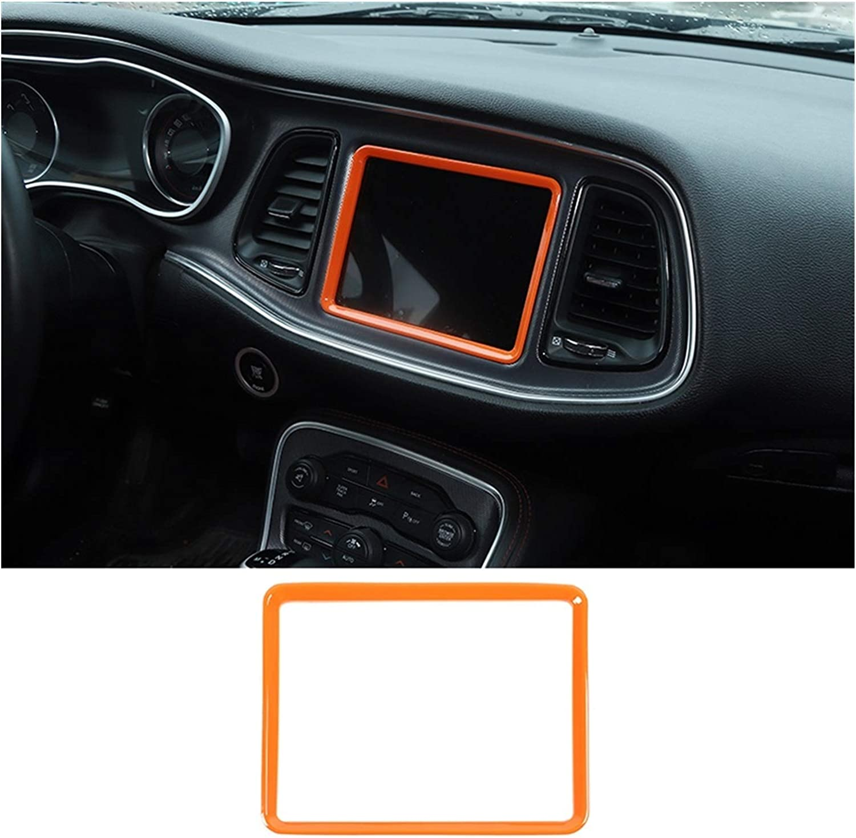 Zhixiang Interior Accessories Fit for Dodge Challenger Car Dashboard GPS Navigation Frame Decoration Cover Sticker Fit for Dodge Challenger 2015+ Color Name : Carbon Fiber Grain
