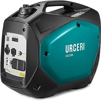 URCERI インバーター発電機 最大出力2000W PSE認証 正弦波 50Hz 60H切替 7時間連続運転 AC DC USB出力 過負荷保護 地震 災害 停電 小型 家庭用 アウトドアに適用 日本語取扱説明書付き 一年保証