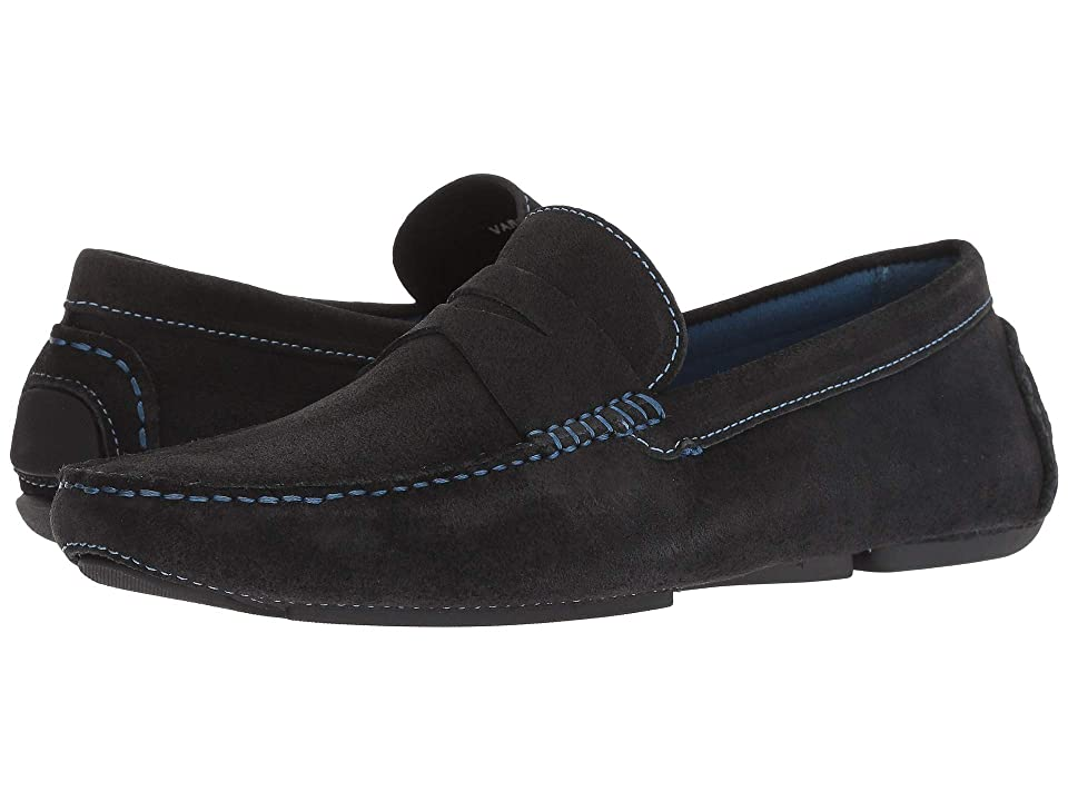 Donald J Pliner Varran 2 (Black Oily Suede) Men