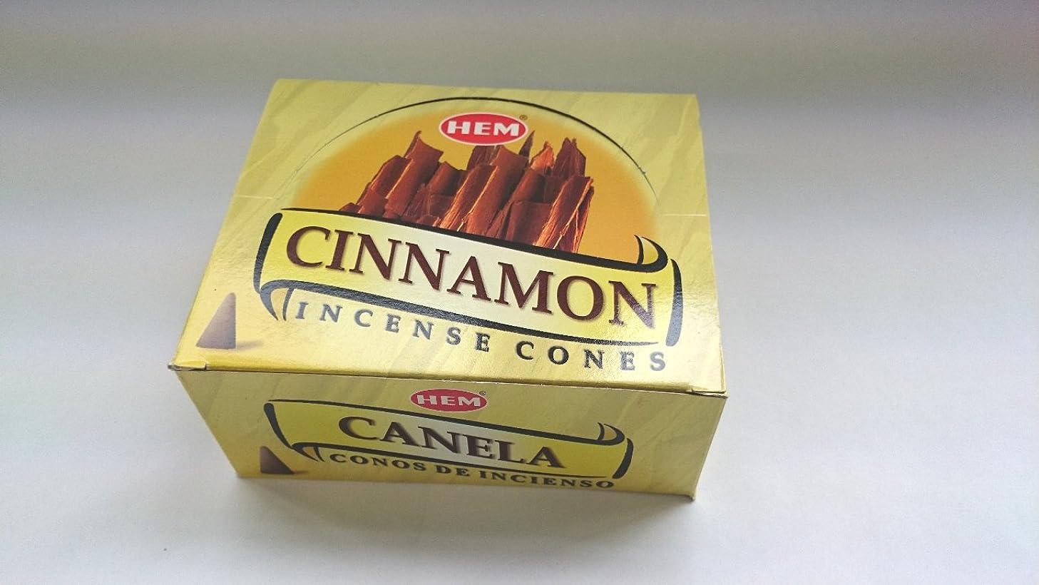 ショップかんたん消えるHEM(ヘム)お香 シナモン コーンタイプ 1ケース(10粒入り1箱×12箱)