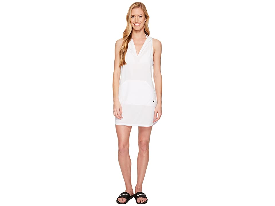 Nike Hooded Dress Cover-Up (White) Women