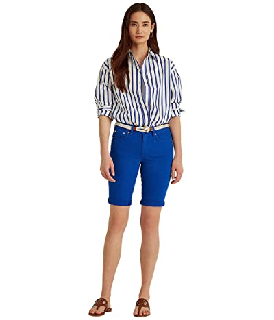 LAUREN Ralph Lauren Petite Cuffed Denim Bermuda Shorts