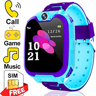 Kids Watch Toys Boys,Chrildren Game Watch,Smart Watch Phone with Music Player SOS Games Camera Two-Way Call Alarm Clock Wrist Bracelet Toddlers Birthday Gifts (Blue)