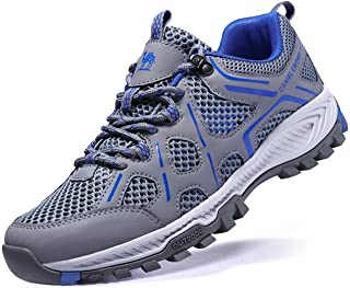 Men Hiking Shoes Lightweight Non-Slip Mesh Trail Running Sneakers Breathable Outdoor Trekking Walking Shoes