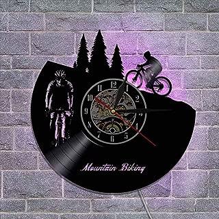 12'' リモコン ビニールレコード壁掛け時計 壁ランプ サイレントクォーツ機構 装飾ギフト,C