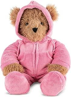 Vermont Teddy Bear - Super Soft Teddy Bear, Pink Pajama Plush Bear, Kids Toy, Brown, 18 Inches