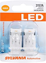 SYLVANIA - 3157 LED Amber Mini Bulb - Bright LED Bulb, Ideal for Park and Turn Lights (Contains 2 Bulbs)