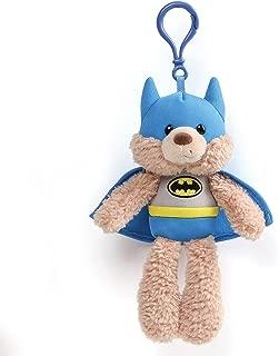 Gund DC Universe Fuzzy Bear Batman Plush Backpack Clip, 6.5