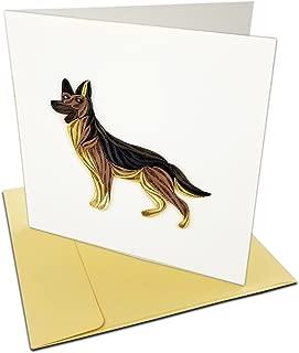 German Shepherd Dog Quilling Greeting Card, 6x6