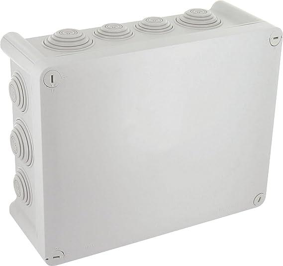 Lote de 3 cajas estancas cuadradas 80 x 80 x 40 cm, IP 55 Zenitech