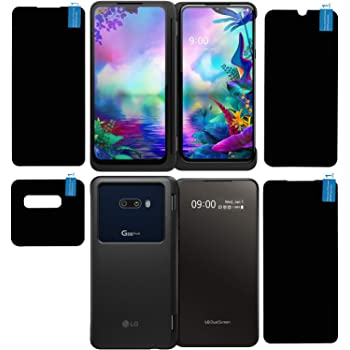 FCS Anti Shock Armour Impossible Fiber Glass Flexible Screen Protector Guard for LG G8x ThinQ | 4 Pc. Set | All Screens and Camera Protection, Full Coverage (Glossy)