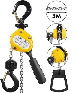 Mophorn 0.5T Lever Block Chain Hoist 3M 10Ft Chain Hoist Alloy Steel G80 Chain Ratchet Lever Hoist with Hook (0.5T 10 Ft)