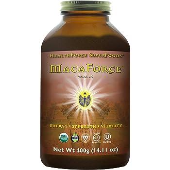 HealthForce SuperFoods MacaForce Lucuma Spice Powder - 400 Grams - Whole Maca Root Supplement, Supports Fertility, Healthy Libido & Mood - Organic, Vegan, Gluten Free - 53 Servings
