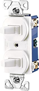 double single pole light switch