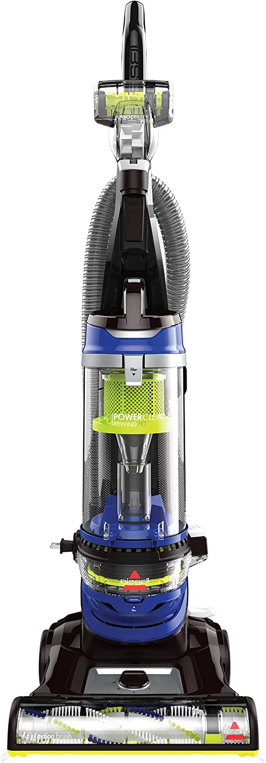BISSELL Cleanview Rewind Pet Bagless Vacuum Cleaner, 2489, bluee