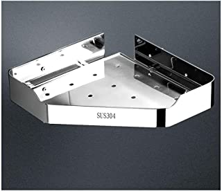 Étagère d'angle Douche 304 Salle de bains en acier inoxydable étagère murale Support de rangement de douche d'angle Caddy,...