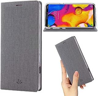 LG V40 Case, LG V40 ThinQ Case,Premium Flip Leather Wallet Case Stand Kickstand Card Slot Magnetic Full Body Protective Cover Clear TPU Bumper Thin Case for LG V40/LG V40 ThinQ 2018 (Gray, LG V40)