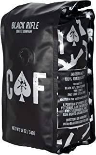 Black Rifle Coffee Company CAF Caffeinated AF Medium Roast Ground Coffee, 12 Ounce Bag