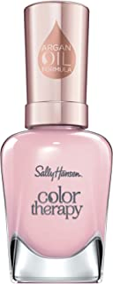 Sally Hansen Color Therapy Nail Polish, Rosy Quartz Long-Lasting Nail Polish with Gel Shine and Nourishing Care, 1 Count
