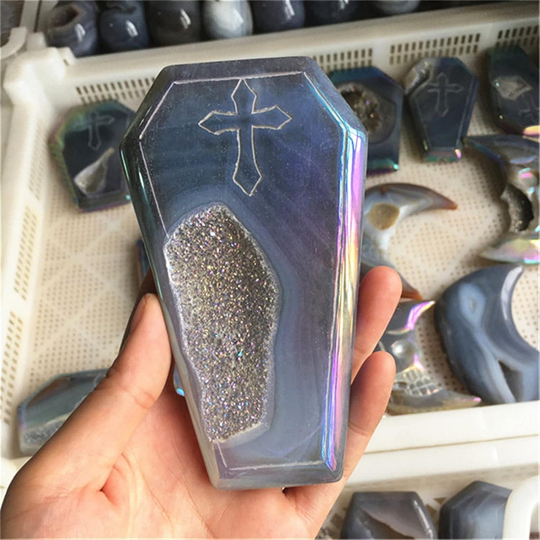 JSJJATQ Gemstone Crystal OFFicial shop Ornaments Agate Quartz NEW geo Gray