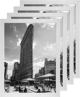SILD 11x14 Frame 4 Pack, White Picture Frame 11x14 with Pine Wood and Tempered Glass, Mounting Hardware Included