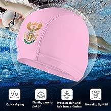 Angkella South Africa Coat of Arms Swim Cap, High Elasticity Swimming Cap Keeps Hair Clean Breathable Fit Both Long Hair Short Hair