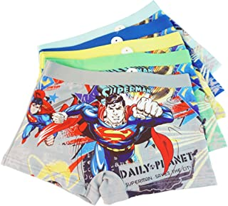 2-8 Years Old Boys Superman Boxer Briefs Hero-Themed Underwear 5 Multipack