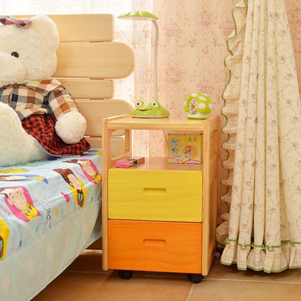 JHEY Mesita de Noche de Pino Macizo Simple y Moderno Dormitorio Creativo Armario gabinete de Almacenamiento en el hogar Color : A