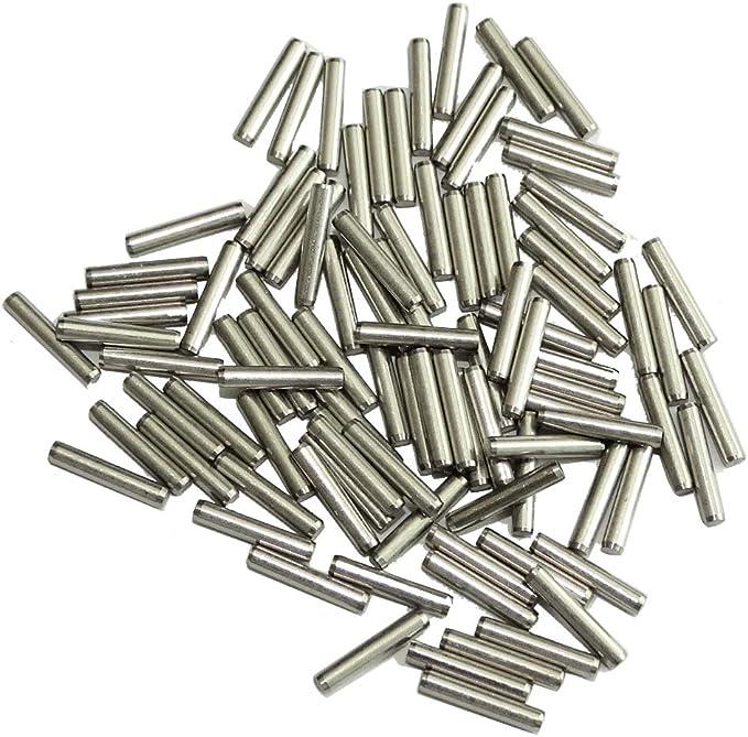 C43563 DIN7 AERZETIX Lot de 50 goupilles cylindriques /Ø1mm en Acier INOX A2 Longueur 6mm