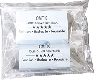 CMTK Unisex Anti Dust Face Mouth Mask,Black Cloth Cotton Face Mask Washable, Reusable – Protection from Dust, Pollen, Pet Dander, Other Airborne Irritants (Fashion MASK 9PCS)