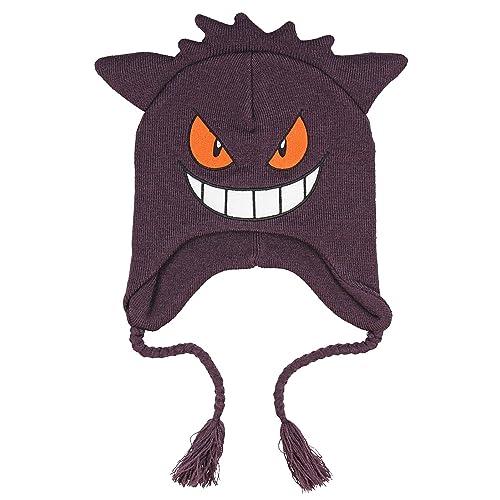 Pokemon Gengar Face 3D Plush Laplander Beanie One Size Purple 1c56f8c56d17