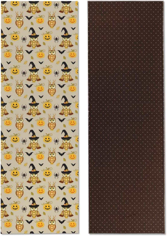 Pro Yoga Mats for Women Halloween Atlanta Mall Mat Owl Oklahoma City Mall Print And Pumpkin