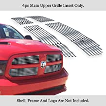 APS Compatible with 2013-2018 Ram 1500 Stainless Steel Billet Grille Grill Inserts Chrome Polished D65919S