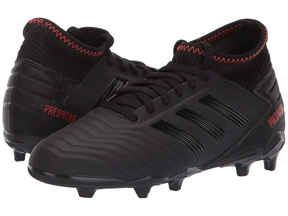 adidas Kids Predator 19.3 FG Soccer (Little Kid/Big Kid) (Black/Black/Active Red) Kids Shoes