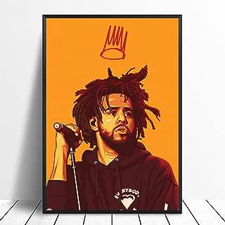 J Cole Poster, Hip Hop Rap Star Wall Print, J Cole Wall Art, J Cole Wall Decor, Hip Hop Rap Star Gifts, J Cole Canvas Print, J Cole Artwork
