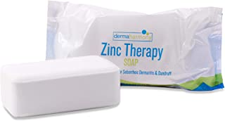 DermaHarmony 2% Pyrithione Zinc (ZnP) Bar Soap 4 oz - Crafted for Those with Skin Conditions - Seborrheic Dermatitis, Dandruff, Psoriasis, Eczema, etc.