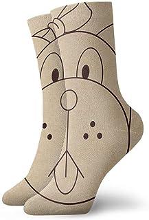 tyui7, Calcetines de compresión antideslizantes con cara de perro Pug vintage Calcetines deportivos acogedores de 30 cm para hombres, mujeres y niños