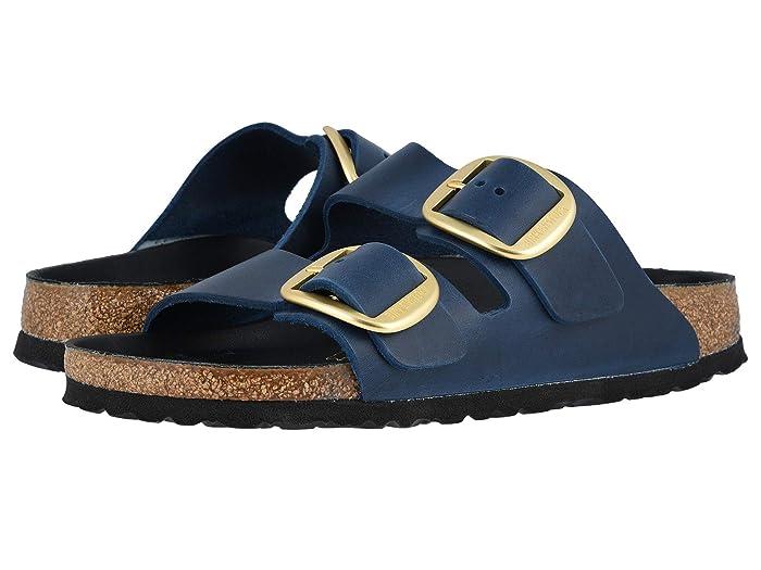 Birkenstock  Arizona Big Buckle (Blue Oiled Leather) Womens  Shoes