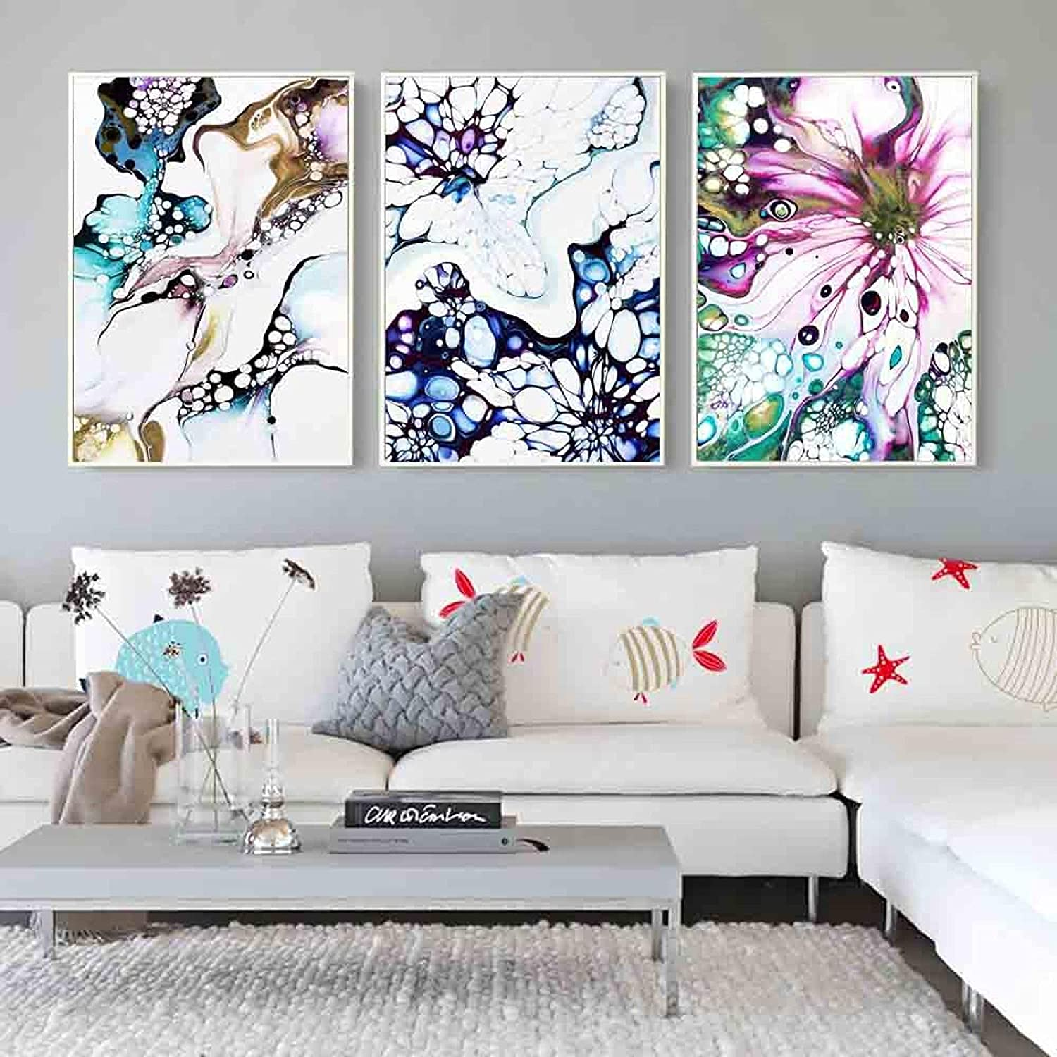 corridor office Tulsa Mall home decoration mural abstract ce color shopping painting